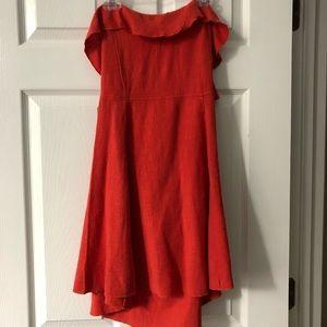 Free People Orange/Red Strappy Summer Dress